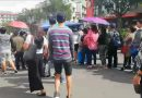Session Road turns to fruit stand for pedestrians