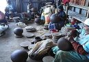 Bila potters exhibits traditional firing of earthen pots