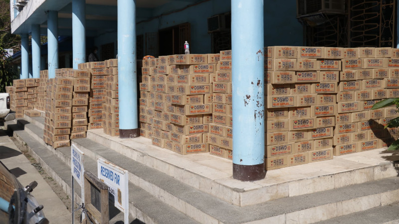 5k relief packs turned over to twenty barangays with high of COVID-19 cases